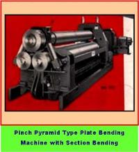 Pinch Pyramid type Plate Bending Machine with Section Bending