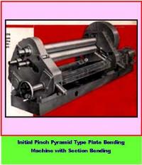 Initial Pinch Pyramid type Plate Bending Machine with Section Bending